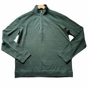NEW! Tommy Bahama Halftime Half Zip Pullover Sweatshirt Size Medium Green 100% P